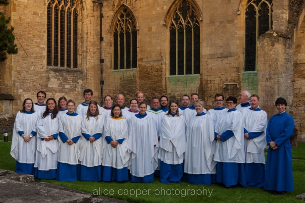 The Voluntary Choir outside the Cathedral