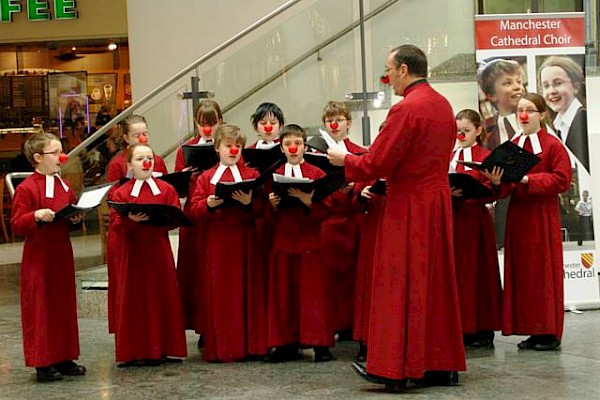 Red Noses for Manchester Choristers