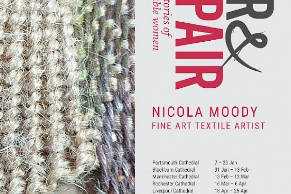 "Tear and Repair A ""Healing Through Weaving"" Exhibition at Manchester Cathedral from 15 February – 13 March 2020"
