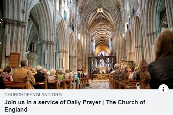Manchester Cathedral Live Streamed Services